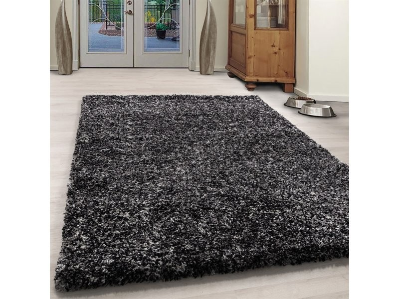 cosy tapis a poils longs 30mm anthracite 120 x 170 cm