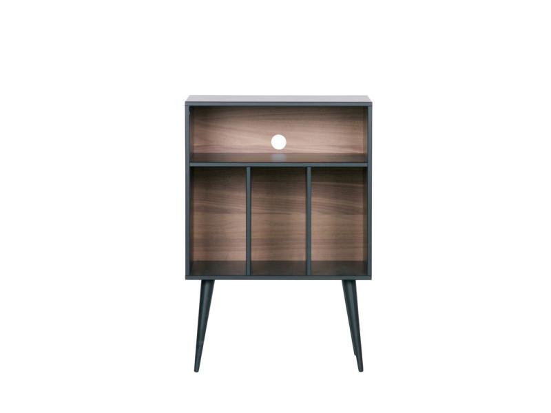 james meuble de rangement disques vinyles en bois couleur noir