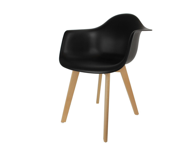 fauteuil scandinave noir