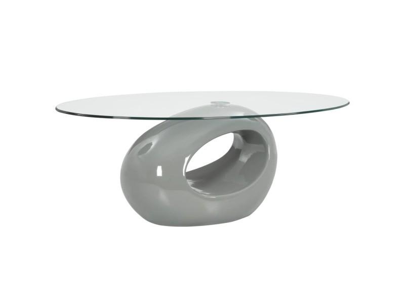 magnifique tables basses et tables d appoint reference port d espagne table basse avec dessus de table en verre ovale gris brillant