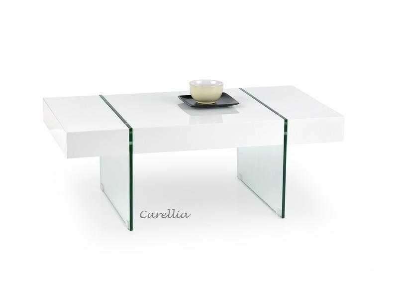 table design laque blanc