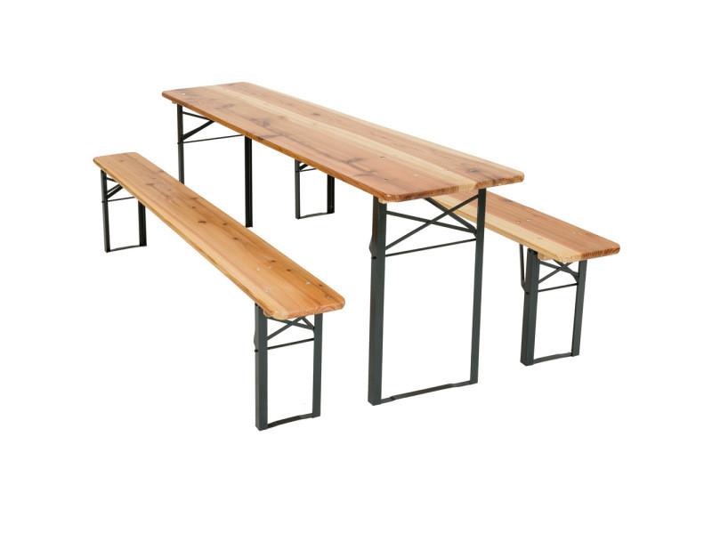 table pliante bancs