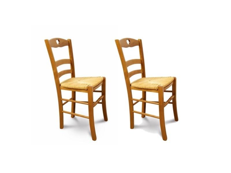 chaise hetre massif