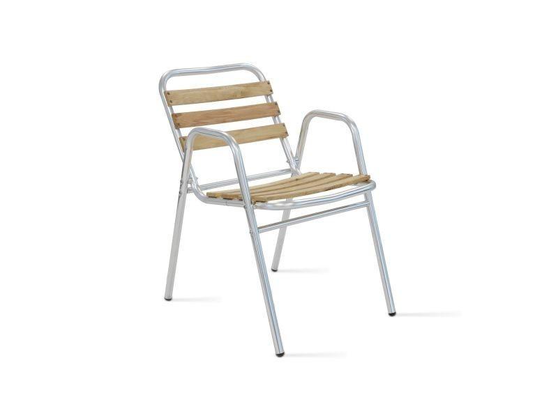 fauteuil de jardin bois et aluminium