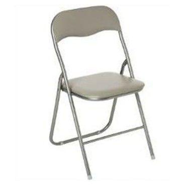 chaise pliante basic 79cm taupe
