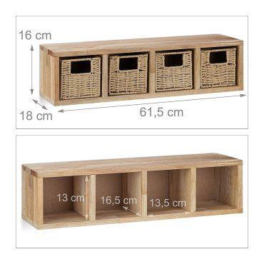 Etagere 4 Cubes Rangement Panier Amovible Bois 61 5 Cm Helloshop26 2713001 Vente De Helloshop 26 Conforama