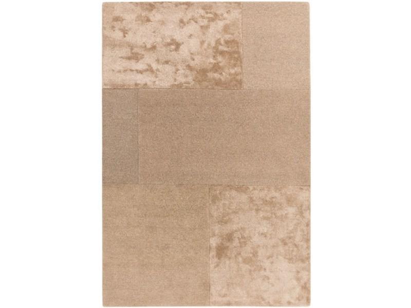 tapis laine et viscose tufte main slate 160x230 cm
