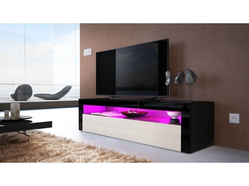 meuble tv bas noir