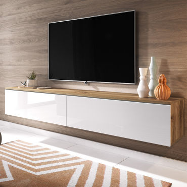 meuble tv kane 180 cm chene wotan