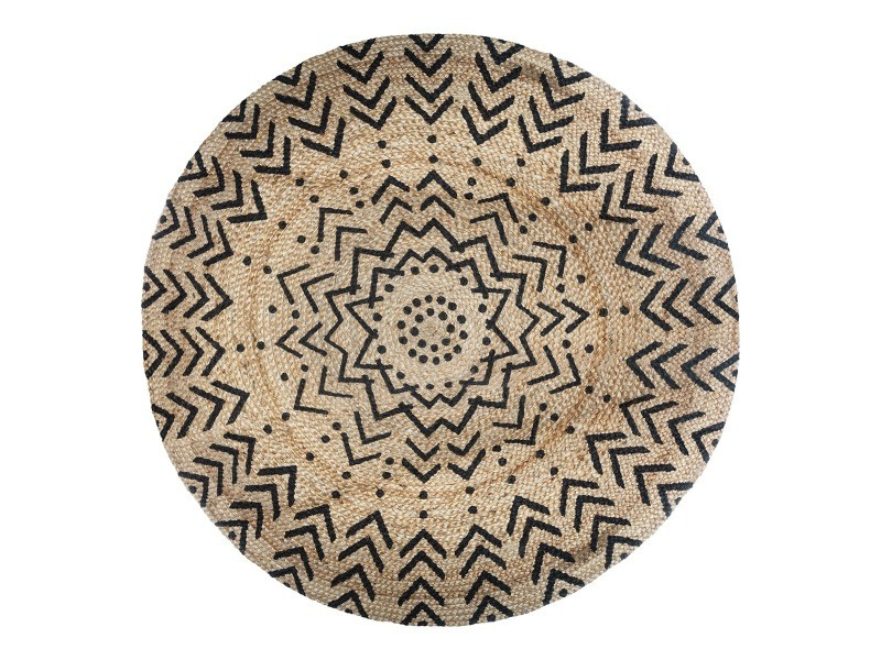 tapis rond en jute 120 cm living motifs