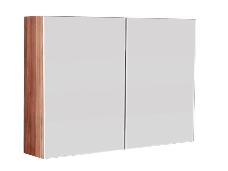 armoire de toilette de base 90x62cm noix satine sps90x60cm000202setde vente de meuble et rangement conforama