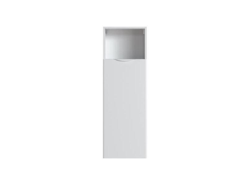 meuble haut de salle de bain element mural de salle de bain armoire de toilette solna colonne salle de bain l 40 cm blanc laque et mat
