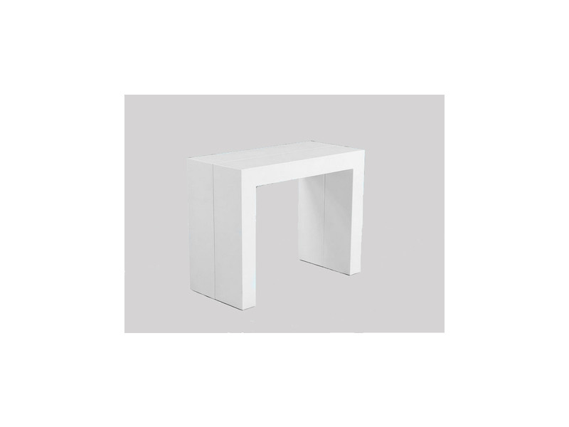 table console extensible salome laque blanc