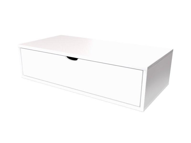 Cube De Rangement 100x50 Cm Tiroir Blanc Cube100t Lb Vente De Abc Meubles Conforama