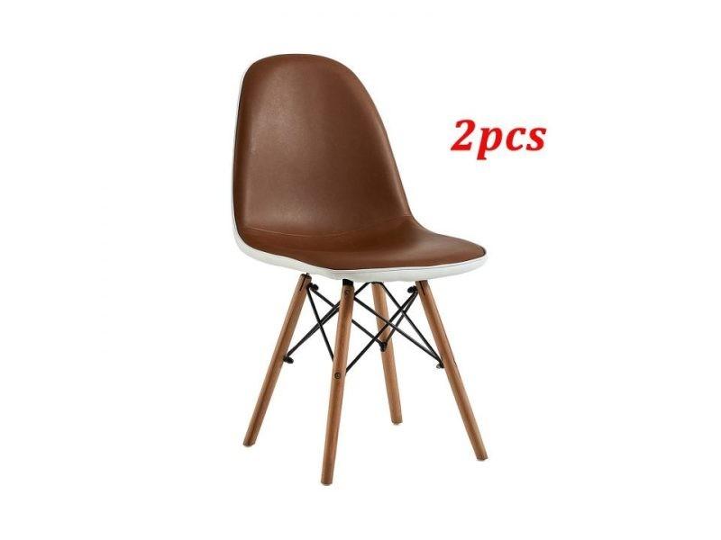 chaise cuir vintage