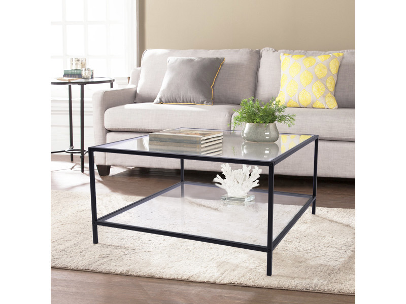 table basse verre carree