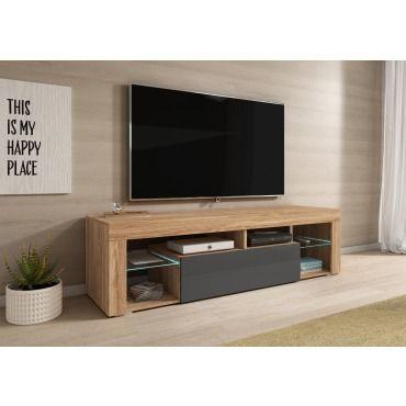e com meuble tv titan avec led 140 cm