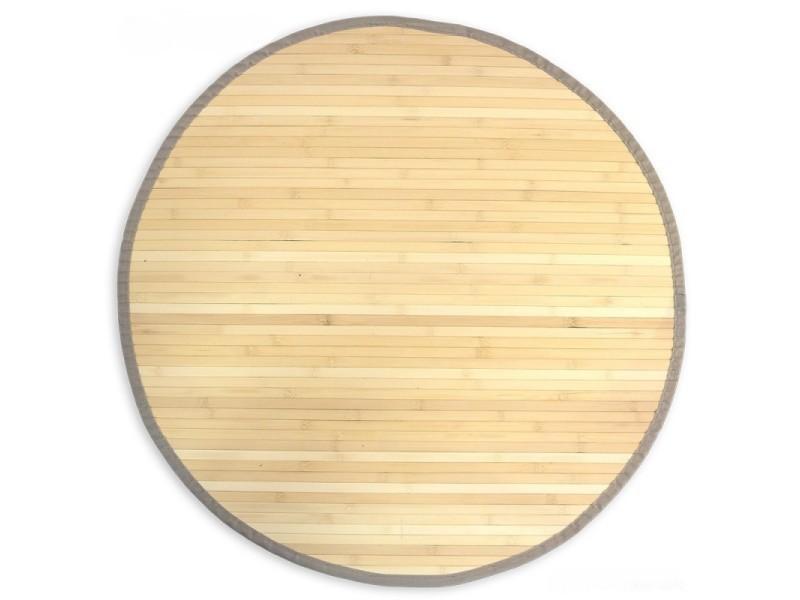 tapis en bambou rond naturel o 120cm tap06079
