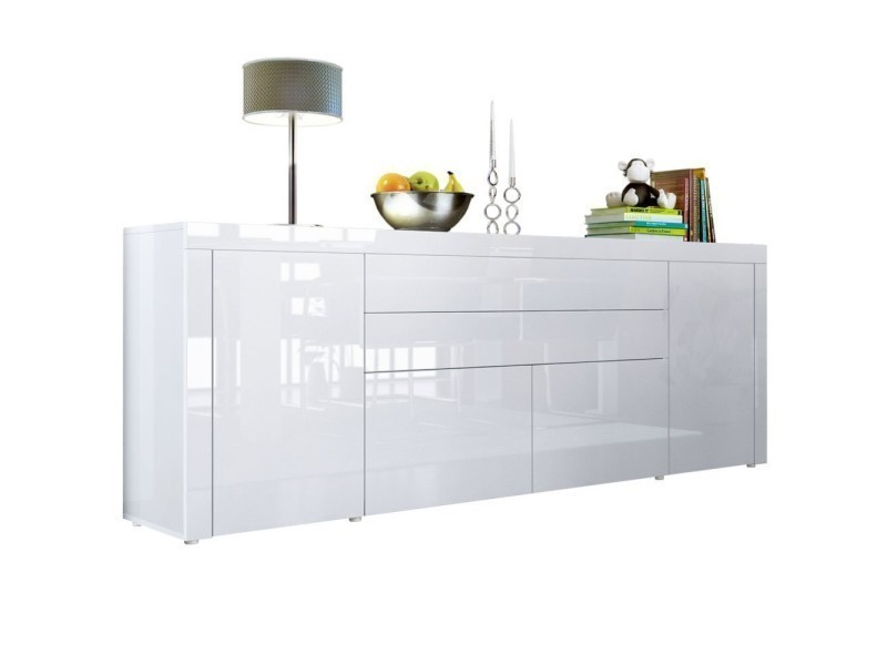 buffet blanc integralement laque 200 cm