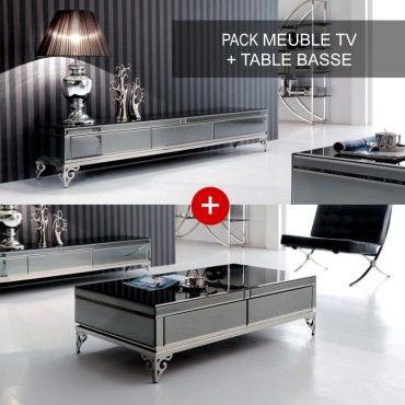 ensemble meuble tele et table basse