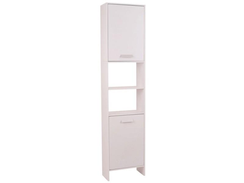 meuble colonne salle de bain en bois design blanc