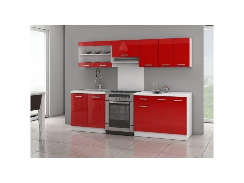 cuisine complete ultra cuisine complete avec plan de travail l 2m40 rouge laque brillant