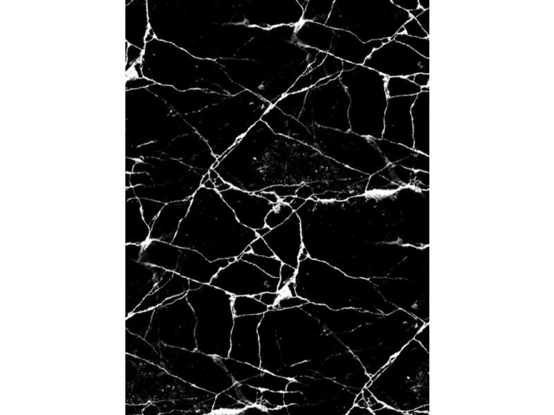 tapis effet marbre noir 120x180 cm