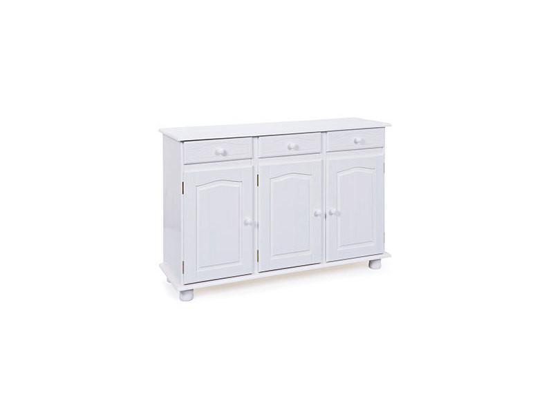 buffet vaisselier en pin blanc avec