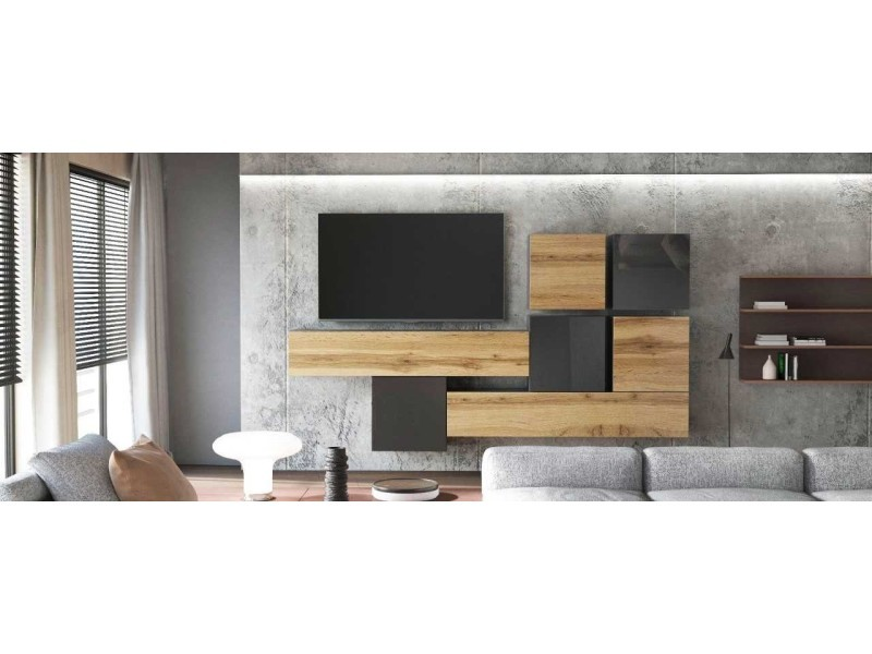 meuble tv blanc laque 200