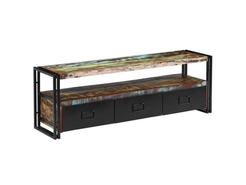meuble tv bois 120
