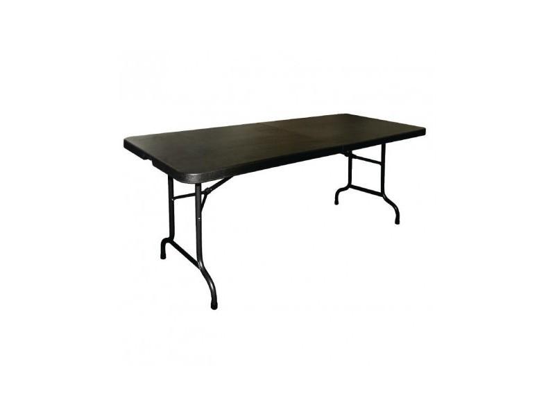 table pliable au centre noire 1829 mm bolero