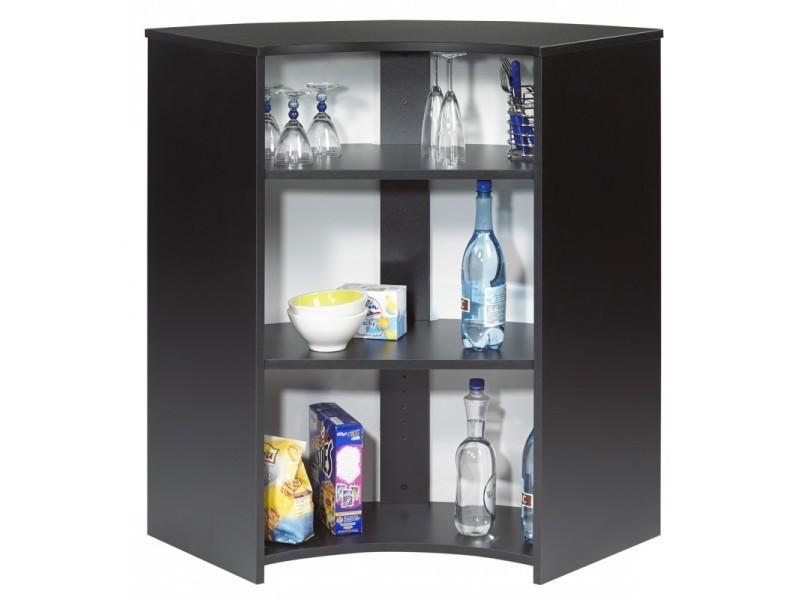 Meuble Comptoir Bar Acceuil Noir 107 Cm Coloris Capitons 911 Vente De Beauxmeublespaschers Conforama