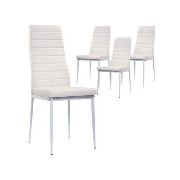 lot de 4 chaises blanche iris vente