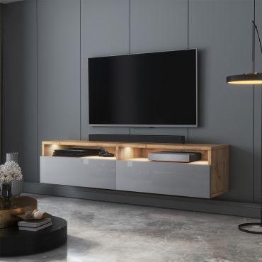 meuble tv rednaw 140 cm chene