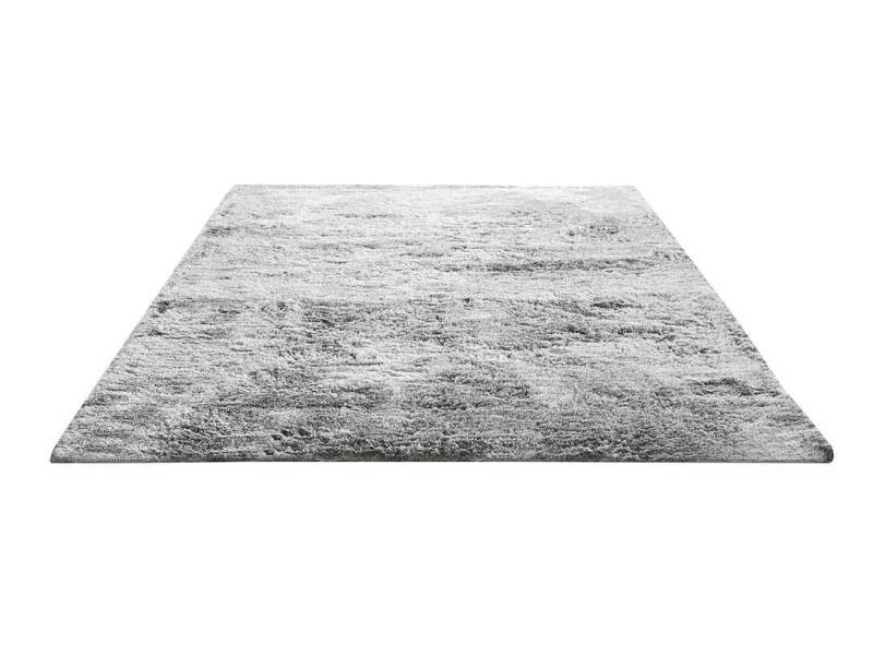 tapis uni a grandes meches 170 x 230 cm