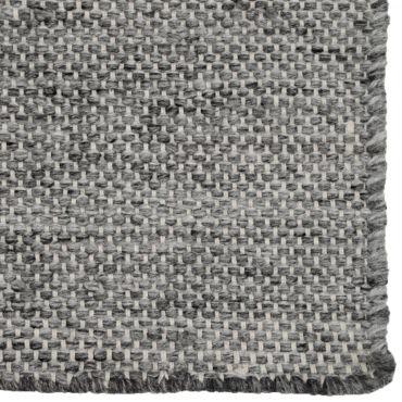 tapis tisse coloris gris graphite dim