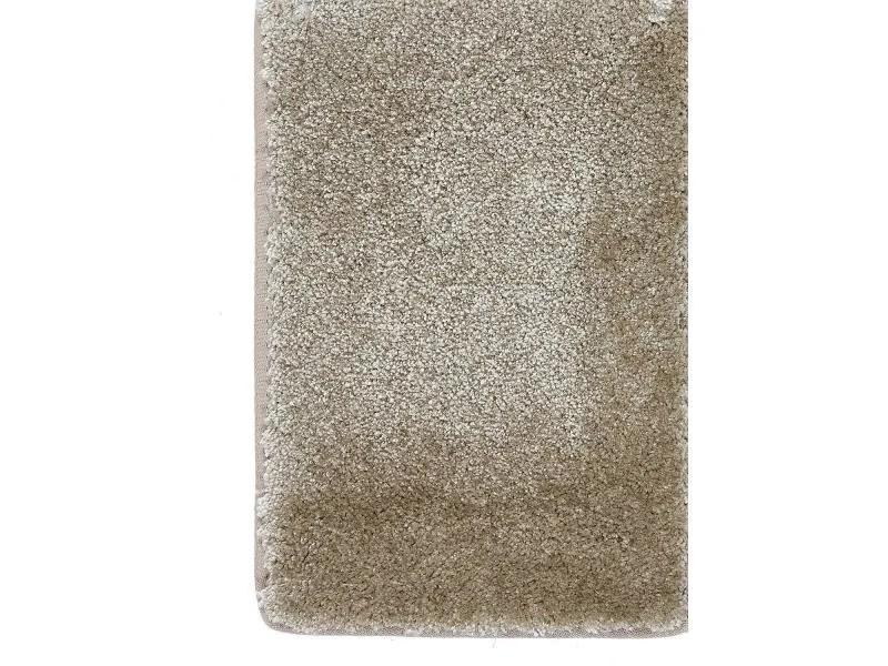 tapis design et moderne 200x200 carre cm carre luminozalong beige salon adapte au chauffage par le sol