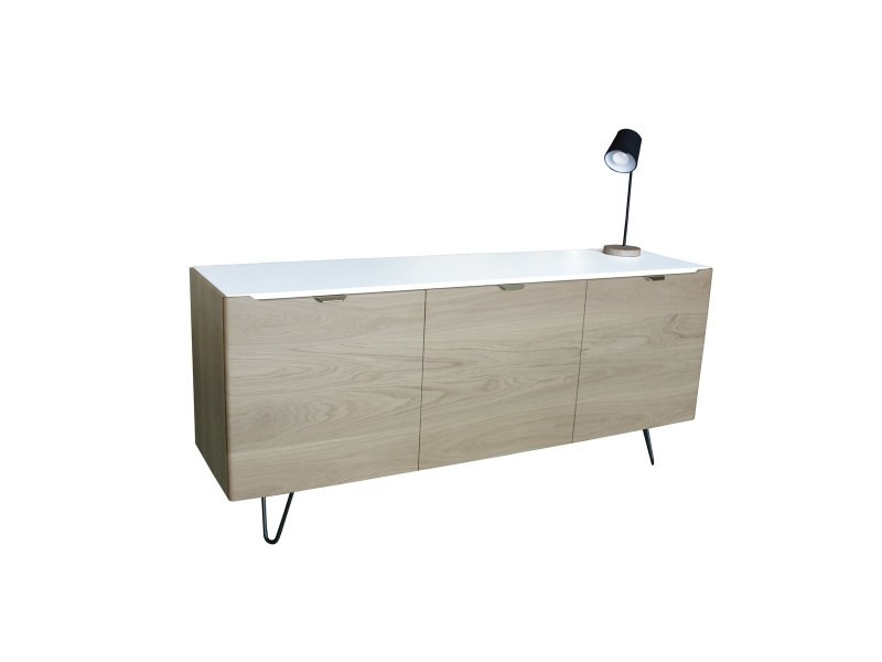 buffet chene massif et laque 3 portes made in france