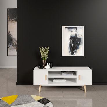 meuble tv joey blanc vente de happy