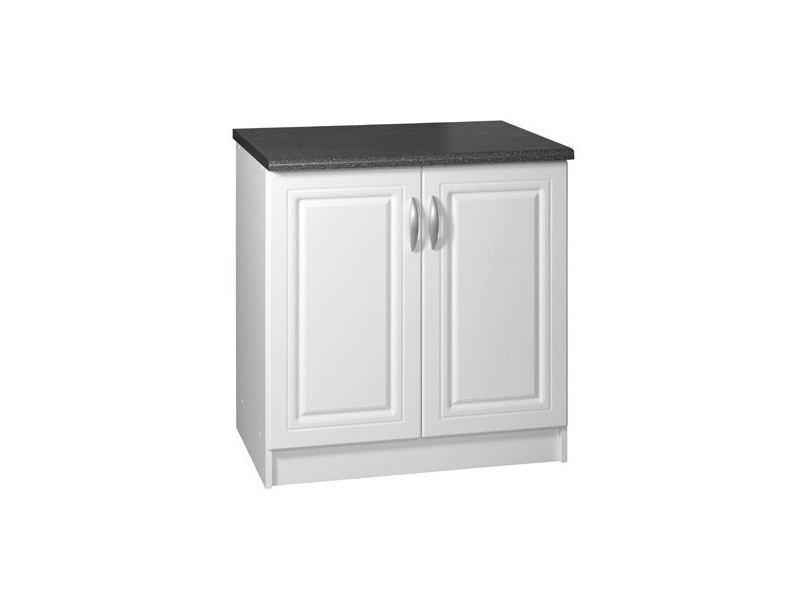 meuble bas cuisine 2 portes 90 cm dina blanc