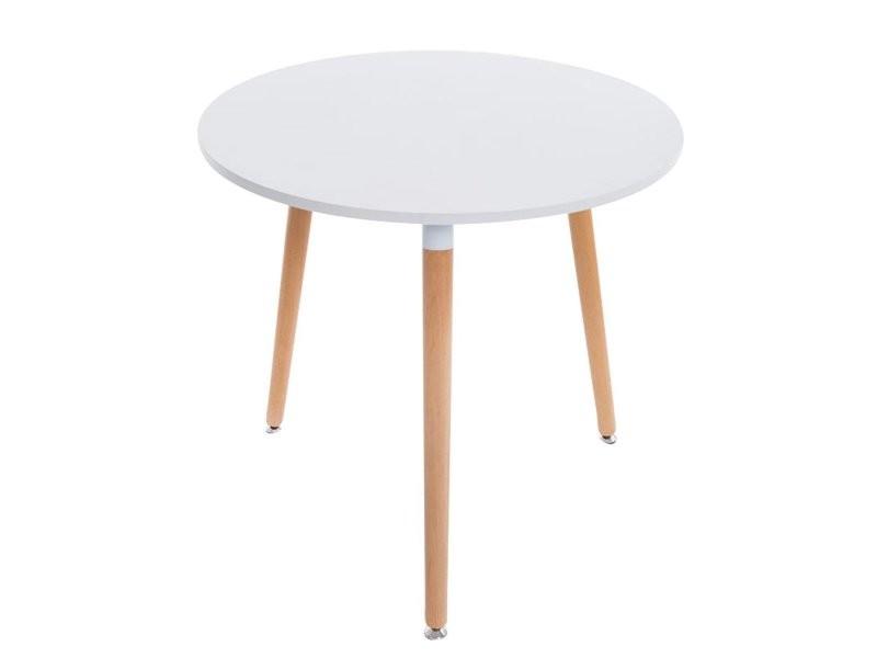 Table De Cuisine Table D Appoint Ronde 3 Pieds En Bois Clair O80 Cm Tab10010 Vente De Table Conforama