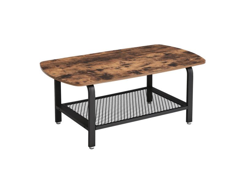 Table Basse Vintage Bout De Canape Table De Salon Lct10x Armature Metallique Stable Vente De Vasagle Conforama