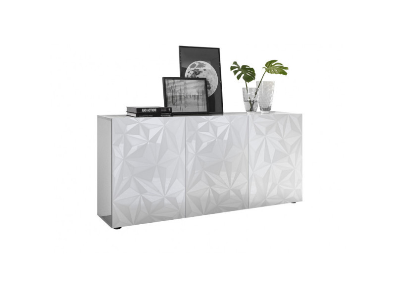 buffet bahut design laque 181 cm andreasse ii coloris blanc