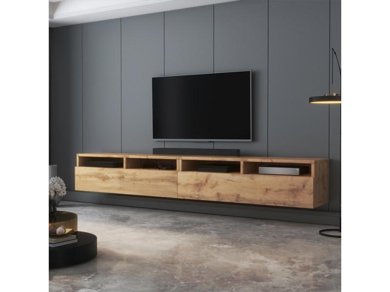 meuble tv rednaw 200 cm chene wotan