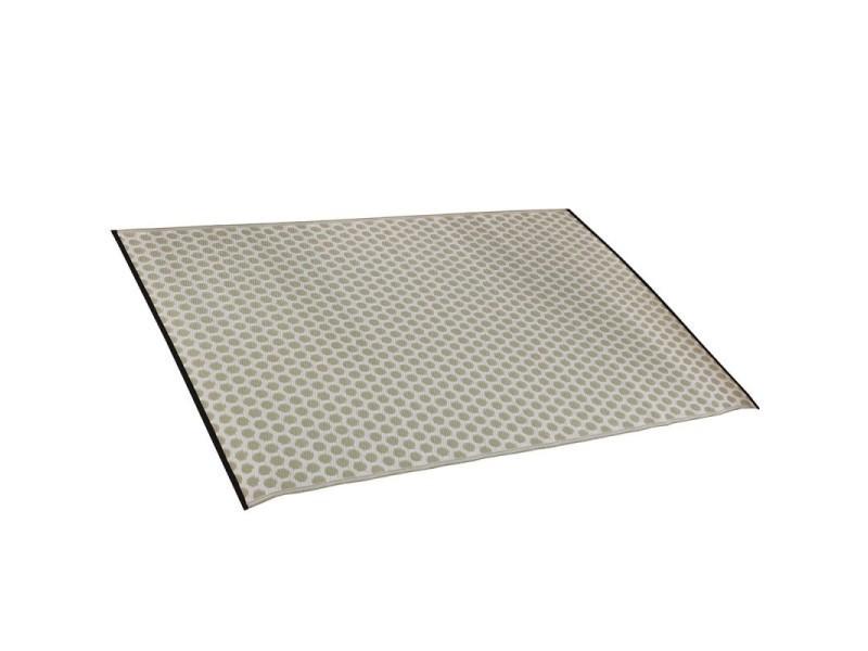 tapis interieur exterieur 160 x 230 cm en polypropylene recycle venezia beige