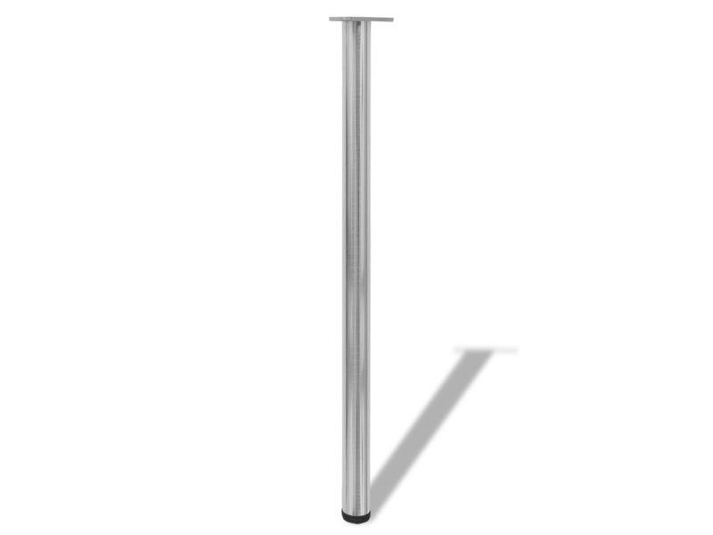 icaverne pieds de table gamme 4 pieds de table a hauteur reglable et en nickel brosse 1100 mm