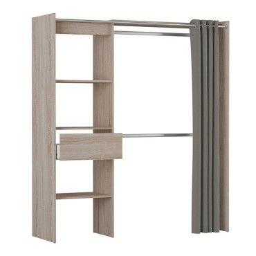 armoire placard extensible avec rideau