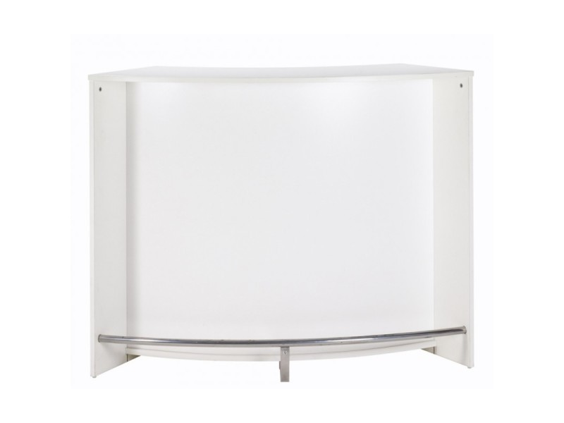 Meuble Bar Meuble Comptoir Blanc 135 Cm Coloris Blanc Vente De Beauxmeublespaschers Conforama