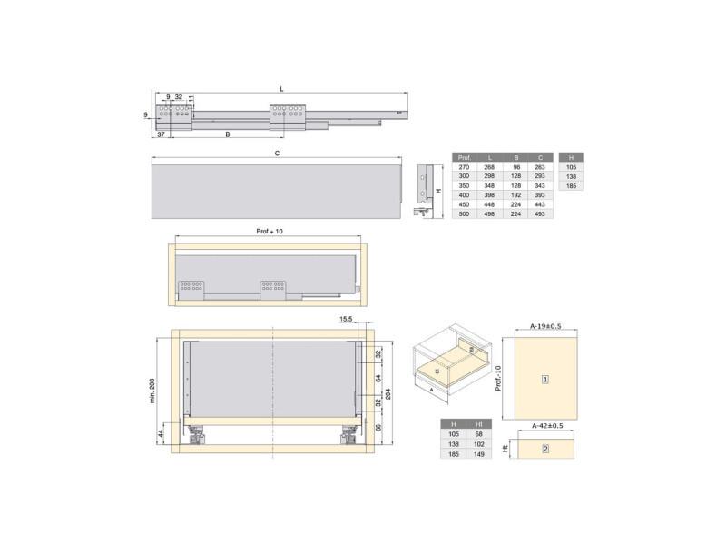 Kit De Tiroir Pour Cuisine Et Salle De Bain Concept 3101735 Vente De Meuble Bas Conforama