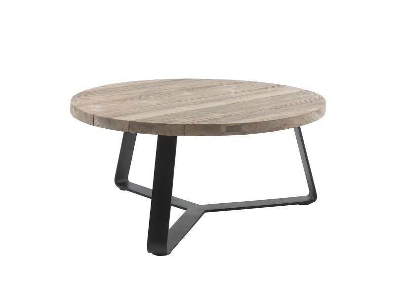 table basse ronde d 100 cm en teck et
